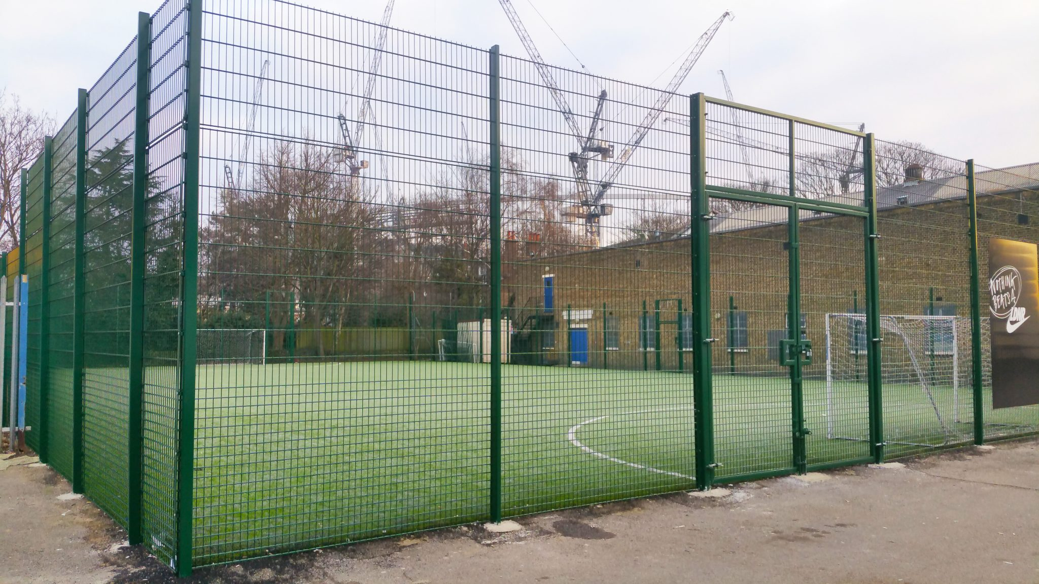 Tottenham Nike Fencing Project 2 Sports Courts Uk